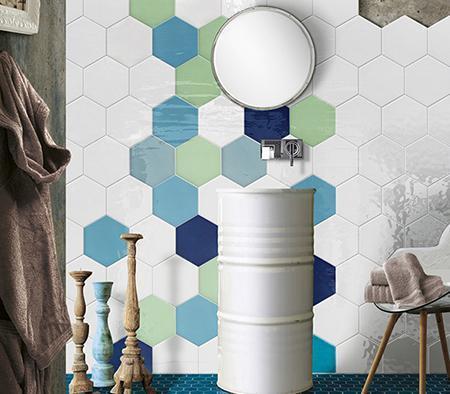 Baldosas subway en colores fabricantes de cer micos y baldosas kiva ceramics - Baldosas hexagonales ...
